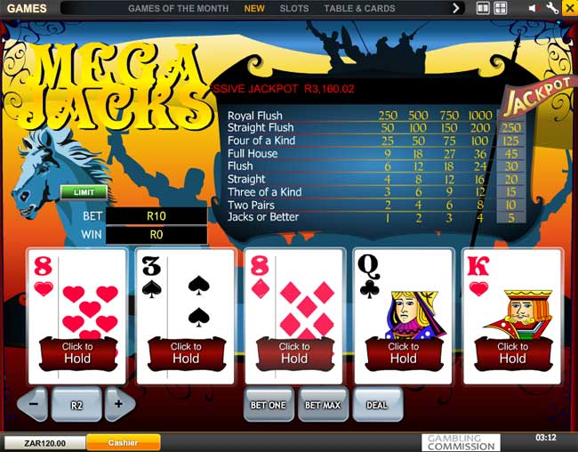 Play All American Video Poker Online at Casino.com South Africa