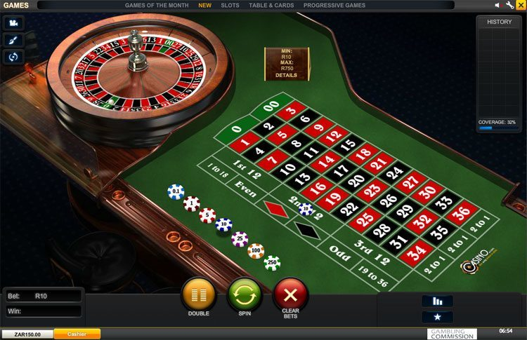 Play Club Roulette Online Roulette at Casino.com South Africa