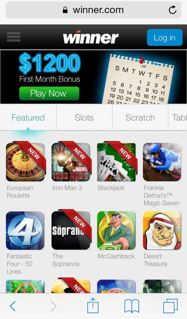 Winner mobile live casino